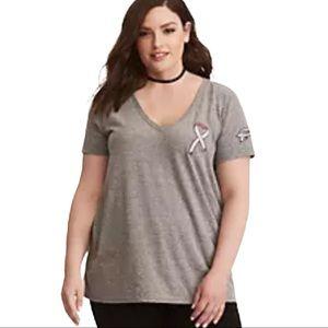 Torrid Team Pink Breast Cancer Awareness Tee Shirt